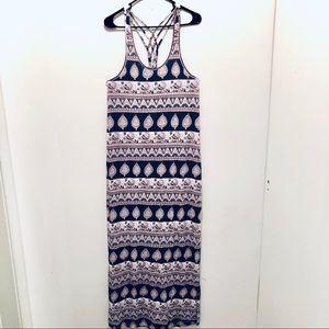 F21 Tribal Print Maxi Dress